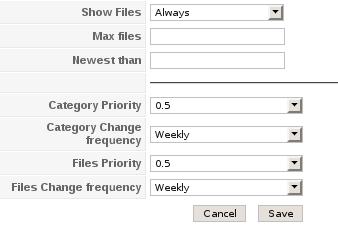 Konfigurationsmöglichkeiten für Xmap Extension